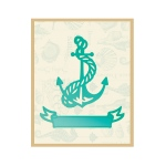 Couture Creations - Tied Anchor & Banner Die