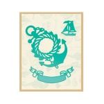 Couture Creations - Wreathed Anchor & Banner Die