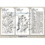 Stampers Anonymous - Tim Holtz - Stencil - Mini Stencil Set #10