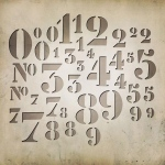 Sizzix - Tim Holtz Alterations - Thinlits - Stencil Numbers Die Set 38 Pack