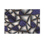 Sizzix - 3-D Textured Impressions Embossing Folder - Jumbled Triangles by Katelyn Lizardi