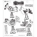 Ranger - Dyan Reaveley - Dylusions - Cling Stamps - Put a Bird On It