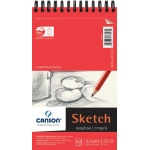 "Canson® Foundation Series 5.5"" x 8.5"" Wire Bound Sketch Pad: Wire Bound, White/Ivory, Pad, 50 Sheets, 5 1/2"" x 8 1/2"", Smooth"