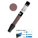 Chartpak® AD™ Art Marker Burnt Sienna: Brown, Xylene-Based, Tri-Nib, (model AP75), price per each