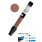 Chartpak® AD™ Art Marker Delta Brown: Brown, Xylene-Based, Tri-Nib, (model AP57/BX), price per box