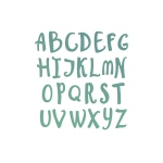Couture Creations - Alpha Numeric - Whimsical Uppercase Die