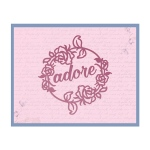 Couture Creations - Impression Die - Rosey Frame Die
