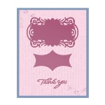 Couture Creations - Frame Die - Thank You Tag Set Die