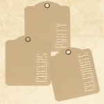 Graphic 45 - Staples - Cheers Party Celebrate - Kraft Tags