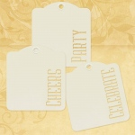 Graphic 45 - Staples - Cheers Party Celebrate - Ivory Tags