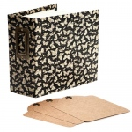 Graphic 45 - Staples - Square Tag & Pocket - Black Butterfly