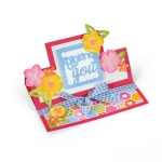 Sizzix - Framelits Die Set 21 Pack - Card - Thinking of You Mini Stand-Ups by Stephanie Barnard