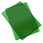 Sizzix - Cutting Pads - Standard - 1 Pair Apple Green