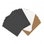 Sizzix - Paper Leather Sheets - 6in x 6in Assorted Pastels - 20 Pack