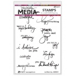 Ranger - Dina Wakley Media - Cling Stamps - Just What To Say