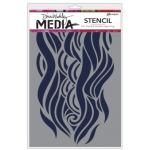 Ranger - Dina Wakley Media - Stencils - Mighty Wave