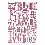 Couture Creations - Typography Embossing Folder
