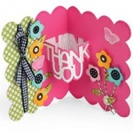 Sizzix - Thinlits Die Set 9 Pack - Thank You 3-D Drop-ins Sentiment by Stephanie Barnard