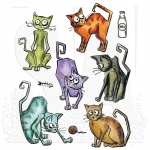 Sizzix - Tim Holtz Alterations - Crazy Cats Thinlits Die