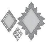 Spellbinders - Nestabilities - Art Deco - Deco Accent - Ritz Decorative Accent