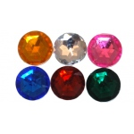 "Bottle Cap Inc. 1/2"" Mixed Color Gems: Pack of 6"