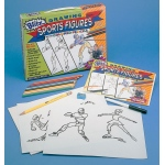 Bruce Blitz Drawing Sports Figures Set