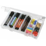 "ArtBin Solutions Medium Box: 6 Compartment, Translucent, 10.75"" x 7.375"" x 1.75"""