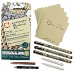 Sakura of America -Zentangle - Tiles - Tan - 3.5 - 12 Pack