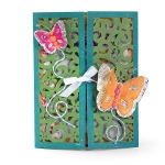Sizzix - Thinlits Die Set - 10 Pack - Gatefold Card - Butterflies by Lori Whitlock