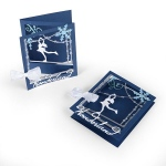 Sizzix - Thinlits Die Set - Tri-fold Card - Ice Skater by Lindsey Serata
