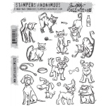 Stampers Anonymous - Tim Holtz - Mini Cats & Dogs Stamps