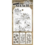 Stampers Anonymous - Tim Holtz - Mini Stencil Set #19