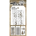 Stampers Anonymous - Tim Holtz - Mini Stencil Set #21