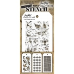 Stampers Anonymous - Tim Holtz - Mini Stencil Set #22