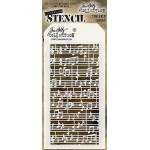 Stampers Anonymous - Tim Holtz - Concerto Stencil