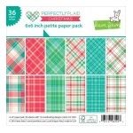 Lawn Fawn - Perfectly Plaid Christmas - Petite Paper Pack 6x6