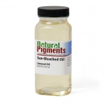 Natural Pigments Sun-Thickened Linseed Oil 8 fl oz - Natural Source: Linseed, Linum usitatissimum