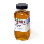 Natural Pigments Cold-Pressed Linseed Oil 8 fl oz - Natural Source: Linseed, Linum usitatissimum