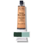 Rublev Colours Verona Green Earth 50 ml - Color: Green