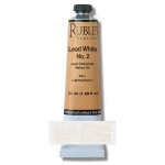 Rublev Colours Lead White No. 2 50 ml - Color: White