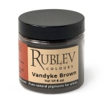 Natural Pigments Van Dyke Brown (4 oz vol) - Color: Brown Black