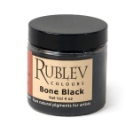 Natural Pigments Bone Black (4 oz vol) - Color: Black