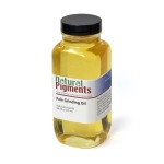 Natural Pigments Pale Grinders Oil 16 fl oz - Natural Source: Linseed, Linum usitatissimum