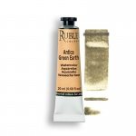 Rublev Colours Antica Green Earth 15ml - Color: Green