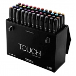 ShinHan Art TOUCH Twin 48-Color Fine & Broad Nib Marker Set: Black, Double-Ended, Alcohol-Based, Refillable, Dual, (model 1104800), price per set