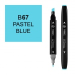 ShinHan Art TOUCH Twin Pastel Blue Marker: Black, Blue, Double-Ended, Alcohol-Based, Refillable, Dual, (model 1110067-B67), price per each