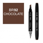 ShinHan Art TOUCH Twin Chocolate Marker: Black, Brown, Double-Ended, Alcohol-Based, Refillable, Dual, (model 1110092-BR92), price per each