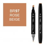 ShinHan Art TOUCH Twin Rose Beige Marker: Black, Brown, Double-Ended, Alcohol-Based, Refillable, Dual, (model 1110097-BR97), price per each