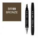 ShinHan Art TOUCH Twin Bronze Marker: Black, Brown, Double-Ended, Alcohol-Based, Refillable, Dual, (model 1110099-BR99), price per each