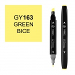 ShinHan Art TOUCH Twin Green Bice Marker: Black, Yellow, Double-Ended, Alcohol-Based, Refillable, Dual, (model 1110163-GY163), price per each